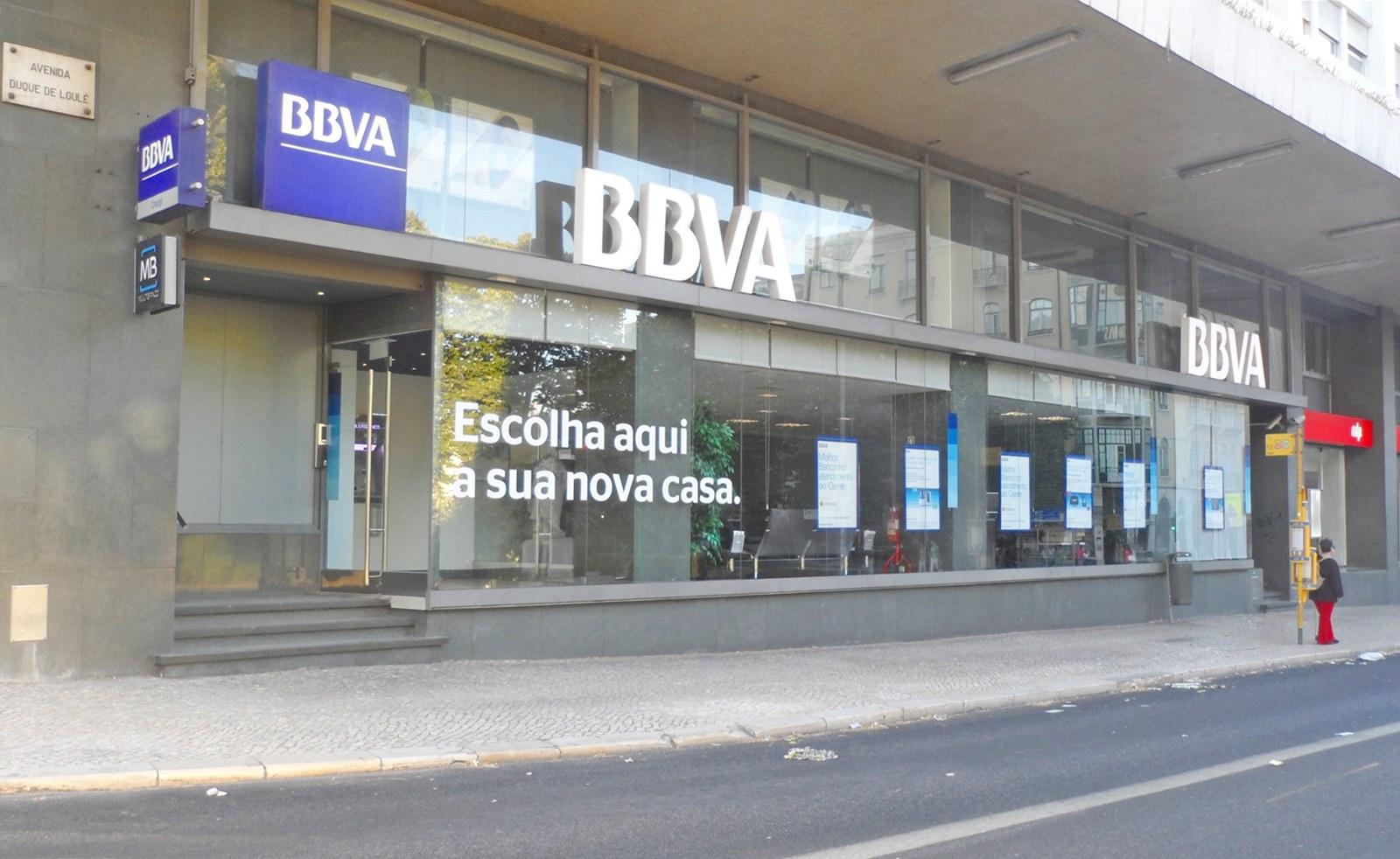 Agência banco BBVA Portugal