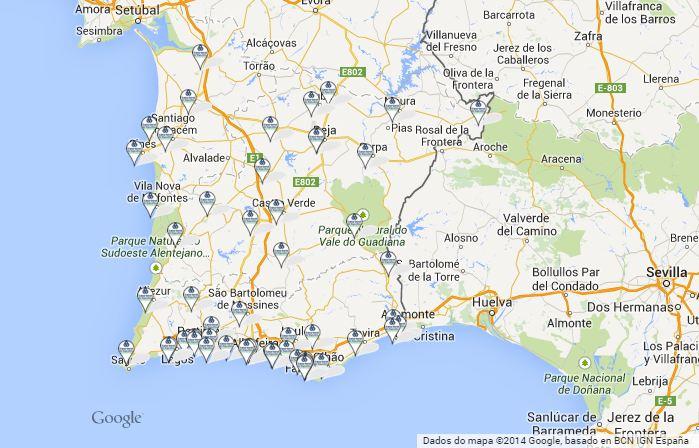 mapa algarve e baixo alentejo Agências CGD Algarve e Alentejo   Bancos de Portugal mapa algarve e baixo alentejo