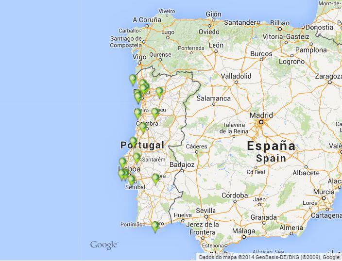 mapa do algarve google Centros de Empresa Novo Banco   BES   Bancos de Portugal mapa do algarve google